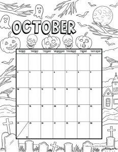 October 2021 Printable Calendar Page