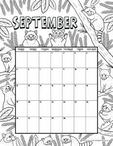 September 2021 Printable Calendar Page