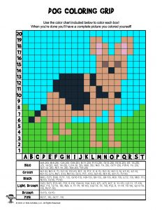 Dog Grid Data Coloring - ANSWER KEY