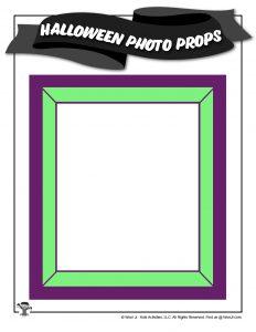 Neon Photo Frame Printable Prop