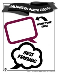 Halloween BFF Text Box Photo Props