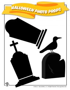 Halloween Gravestone Photo Props