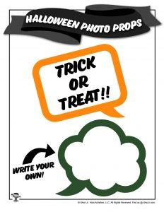 Halloween Photo Booth Speech Bubbles