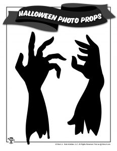 Spooky Hand Silhouettes for Photo Booths
