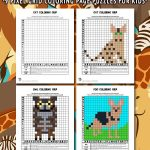 Animal Grid Coloring Pages