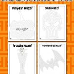 Printable Halloween Mazes for Kids