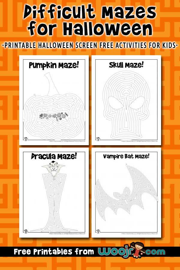 Printable Halloween Mazes for Kids