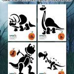 Dinosaur Printable Pumpkin Stencils