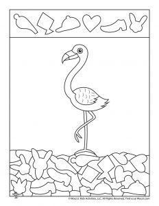 Flamingo Hidden Picture Page