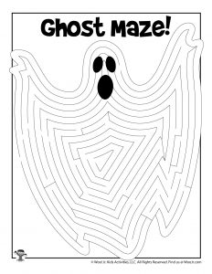 Printable Ghost Maze
