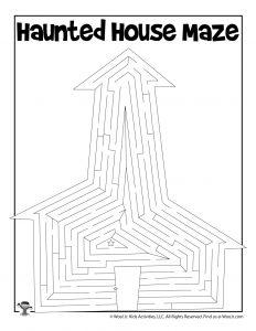 Haunted House Maze Activity