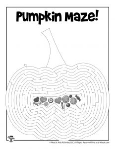 Pumpkin Maze Printable Page
