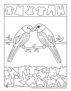 Love Birds Hidden Pictures Worksheet