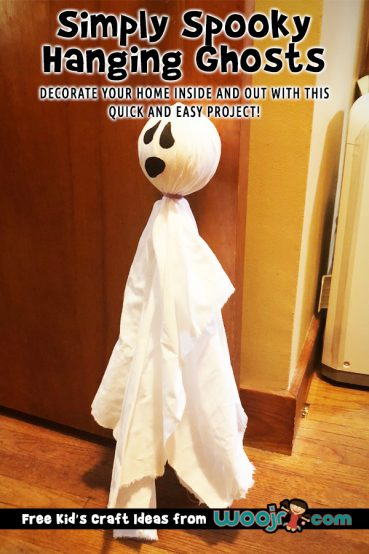 Simply Spooky Hanging Ghosts Craft