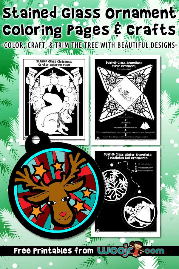 Stained Glass Ornament Coloring Pages & Crafts