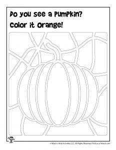 Pumpkin Hidden Picture Page