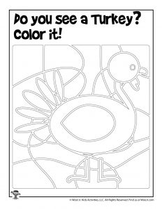 Turkey Find the Object Printable