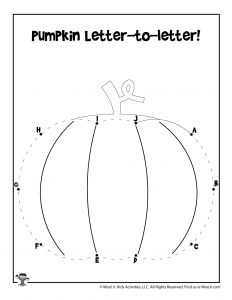 Pumpkin Letter-to-Letter Worksheet