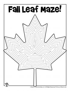 Fall Leaf Maze Activity