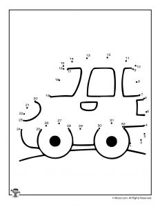 Smart Car Connect the Dots Printable