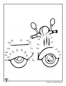 Motorcycle Printable Connect the Dots
