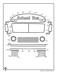 School Bus Dot to Dot Printable