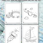 Transportation Dot to Dots Printable Activity Pages
