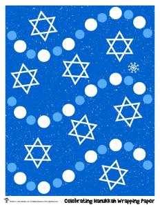 Celebrating Hanukkah Gift Wrapping Paper