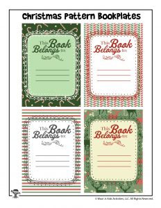 Christmas Gift Printable Bookplates