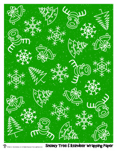 Snowflakes & Reindeer Holiday Gift Wrap