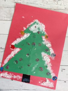 How to make a construction paper Christmas tree - 3