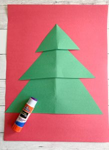 Christmas tree construction paper project