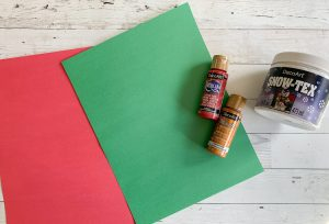 Snowy Christmas Tree Construction Paper Craft Materials