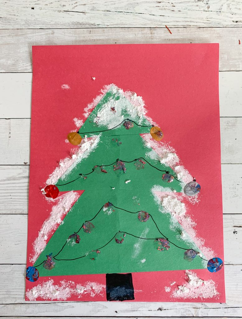 Christmas construction paper craft