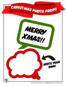 Merry Christmas Speech Bubble Prop