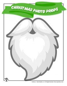 Printable Santa Beard Photo Prop
