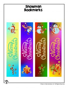 Colorful Merry Christmas Bookmarks