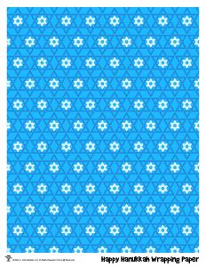 Happy Hanukkah Printable Gift Wrap
