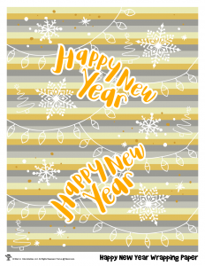 Happy New Year Printable Wrapping