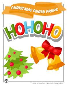 HoHoHo Christmas Tree Holiday Bell Prop
