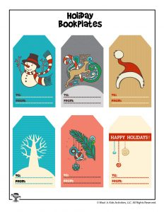 Holiday To and From Book Gift Tags