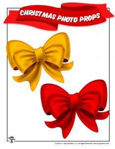 Printable Christmas Bow Prop