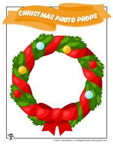 Christmas Wreath Printable Photo Prop