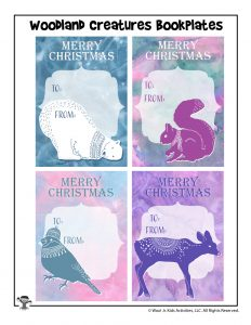 Winter Woodland Creatures Bookplates