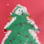 Snowy Christmas Tree Construction Paper Craft