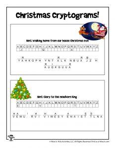 Christmas Secret Code Puzzle