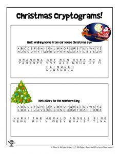 Christmas Secret Code Puzzle - ANSWER KEY