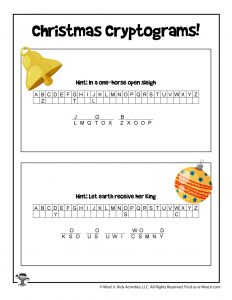 Christmas Party Printable Game