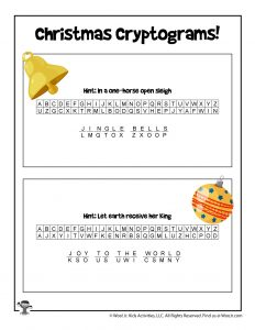 Christmas Party Printable Game - ANSWER KEY