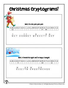 Printable Christmas Song Games